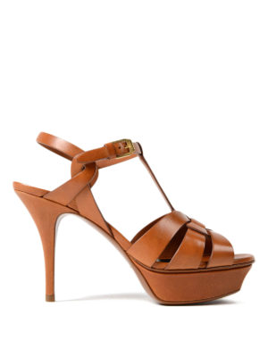 Saint Laurent: sandals - Tribute 75 amber sandals