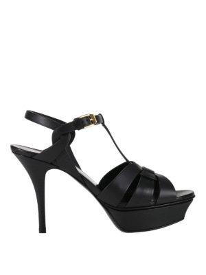 Saint Laurent: sandals - Tribute 75 platform leather sandals