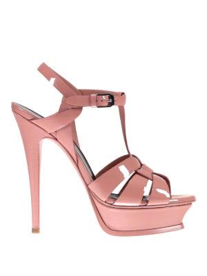 Saint Laurent: sandals - Tribute patent leather sandals
