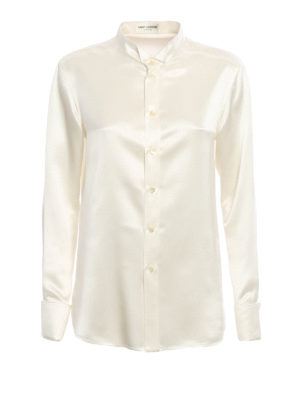 Saint Laurent: shirts - Crepe satin shirt
