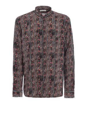 Saint Laurent: shirts - Ethnic printed silk shirt