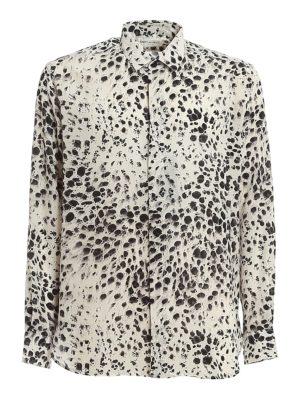 SAINT LAURENT: shirts - Leo print silk shirt