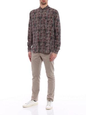 Saint Laurent: shirts online - Ethnic printed silk shirt