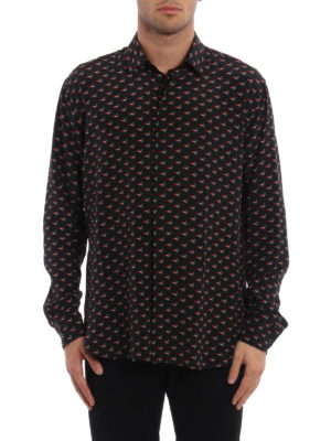 Saint Laurent: shirts online - Silk crepe printed shirt
