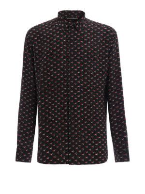 Saint Laurent: shirts - Silk crepe printed shirt