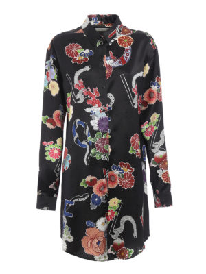 Saint Laurent: short dresses - Love print shirt dress
