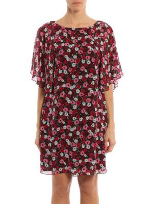 Saint Laurent: short dresses online - Georgette silk floral print dress
