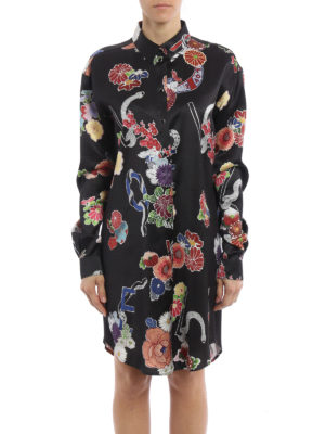 Saint Laurent: short dresses online - Love print shirt dress
