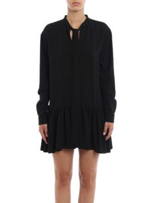Saint Laurent: short dresses online - Sable flounced short dress
