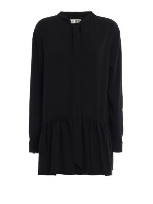 Saint Laurent: short dresses - Sable flounced short dress