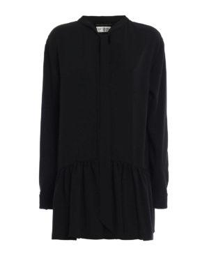 Saint Laurent: short dresses - Sable flounced short dress