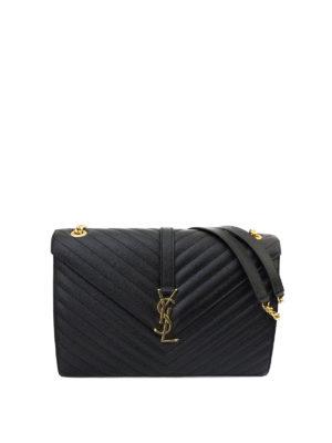 Saint Laurent: shoulder bags - Monogram matelassé leather satchel