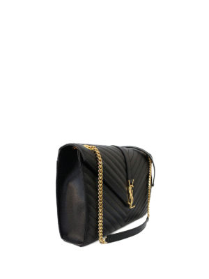 Saint Laurent: shoulder bags online - Monogram matelassé leather satchel