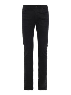 SAINT LAURENT: jeans skinny - Jeans Nightrider in denim di cotone