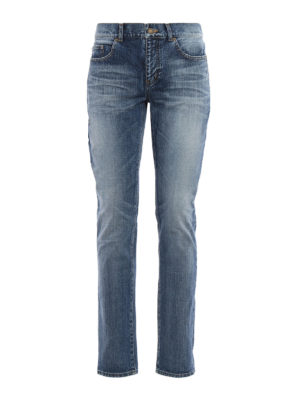 Saint Laurent: skinny jeans - Faded skinny jeans