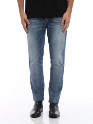 Saint Laurent: skinny jeans online - Faded skinny jeans