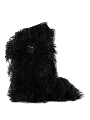 SAINT LAURENT: dopo sci - Stivali da neve Furry in pelliccia di capra