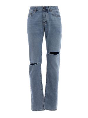 Saint Laurent: straight leg jeans - Vintage look cotton denim jeans