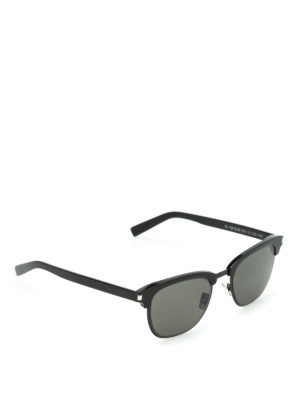 Saint Laurent: sunglasses - Black frame square sunglasses