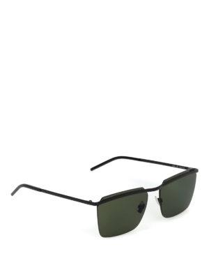 SAINT LAURENT: occhiali da sole - Occhiali da sole neri senza cornice