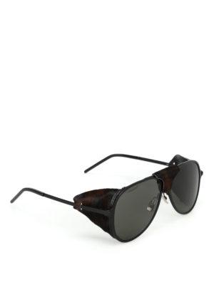 SAINT LAURENT: occhiali da sole - Occhiali Classic 11 Blind con cavallino