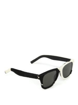 SAINT LAURENT: occhiali da sole - Occhiali da sole Classic 51 in cavallino
