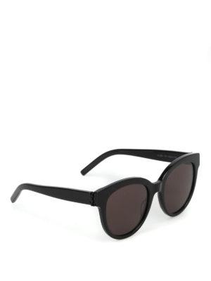SAINT LAURENT: occhiali da sole - Occhiali da sole stondati con lenti scure