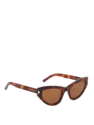 Saint Laurent: sunglasses - Grace tortoise cat eye sunglasses