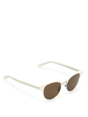 Saint Laurent: sunglasses - Ivory frame square sunglasses