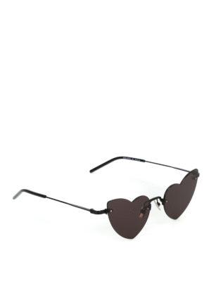 SAINT LAURENT: occhiali da sole - Occhiali da sole Loulou a cuore