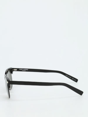 Saint Laurent: sunglasses online - Black frame square sunglasses
