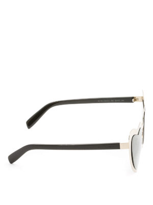 Saint Laurent: sunglasses online - Golden heart-shaped sunglasses