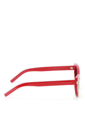 Saint Laurent: sunglasses online - Grace red cat eye sunglasses
