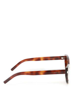 Saint Laurent: sunglasses online - Grace tortoise cat eye sunglasses