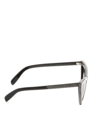 Saint Laurent: sunglasses online - Strass detail acetate sunglasses