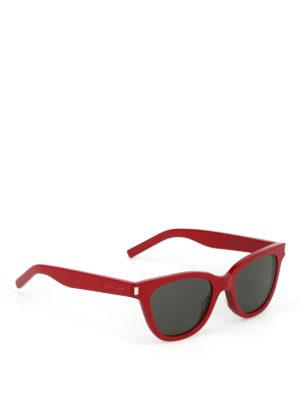 SAINT LAURENT: occhiali da sole - Occhiali da sole Small in acetato rosso