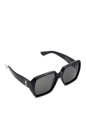 Saint Laurent: sunglasses - Squared sunglasses with logo