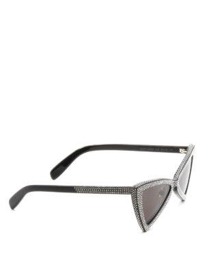 Saint Laurent: sunglasses - Strass detail acetate sunglasses
