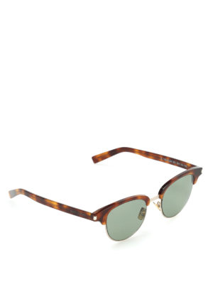 Saint Laurent: sunglasses - Tortoiseshell round sunglasses