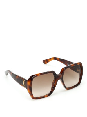 Saint Laurent: sunglasses - Tortoiseshell sunglasses