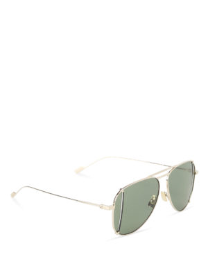 Saint Laurent: sunglasses - Ultralight gold aviator sunglasses
