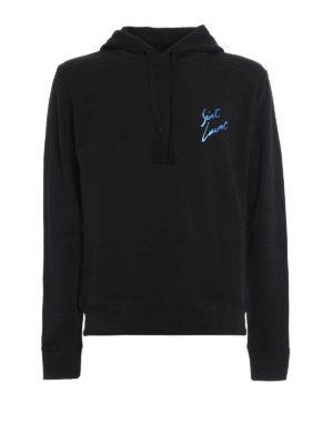 Saint Laurent: Sweatshirts & Sweaters - Cotton hoodie