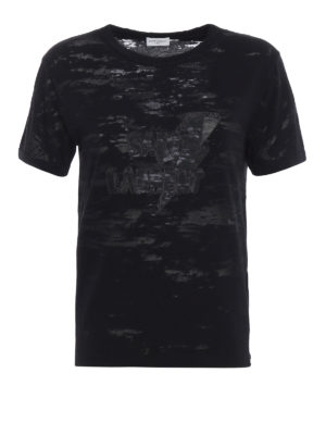 Saint Laurent: t-shirts - Lightning Bolt print used T-shirt