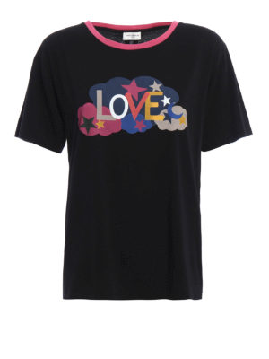 Saint Laurent: t-shirts - Love print Tee