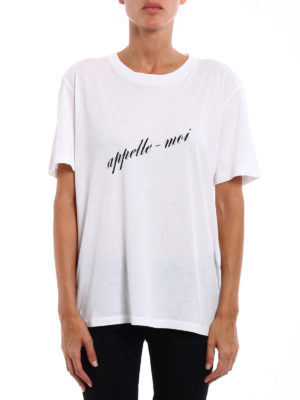 Saint Laurent: t-shirts online - Appelle-moi print T-shirt