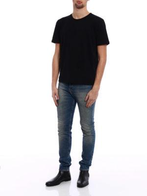 Saint Laurent: t-shirts online - Love 1974 back print T-shirt
