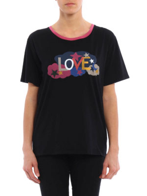 Saint Laurent: t-shirts online - Love print Tee