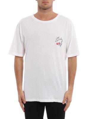 Saint Laurent: t-shirts online - Printed cotton oversize T-shirt