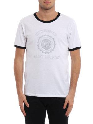 Saint Laurent: t-shirts online - SL Université cotton T-shirt