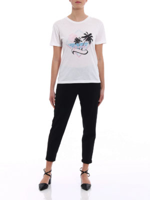 Saint Laurent: t-shirts online - Young Romance print cotton T-shirt